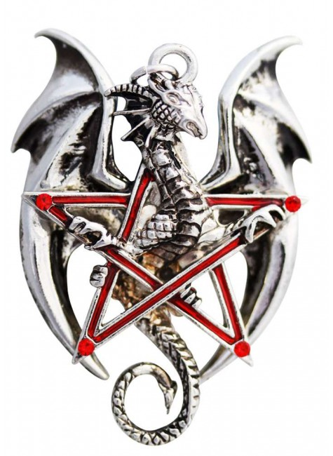Pentadraco Dragon Pentacle Necklace at Gothic Plus, Gothic Clothing, Jewelry, Goth Shoes & Boots & Home Decor