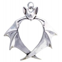 Nights Guardian Bat Necklace by Anne Stokes