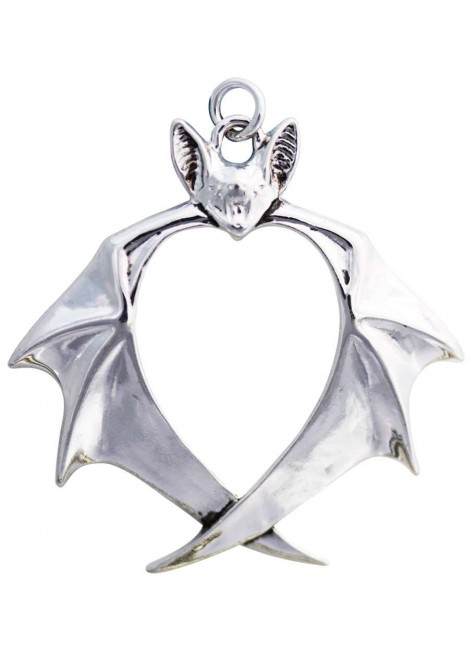 Nights Guardian Bat Necklace at Gothic Plus, Gothic Clothing, Jewelry, Goth Shoes & Boots & Home Decor