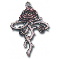 Rosycroix Gothic Rose Cross Necklace Gothic Plus Gothic Clothing, Jewelry, Goth Shoes & Boots & Home Decor