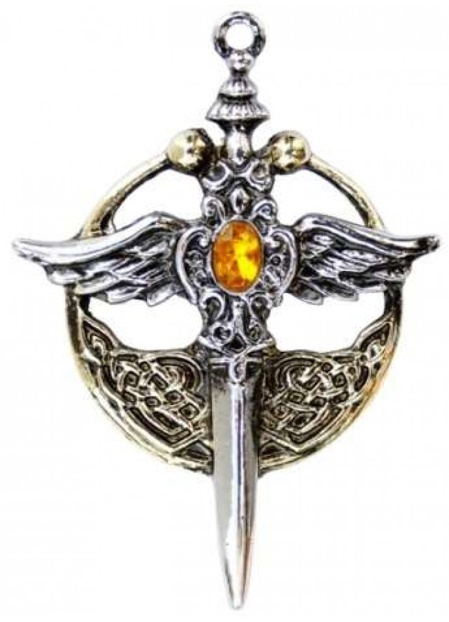 Saint Michael Relic Pewter Necklace Christian Jewelry Fantasy Jewelry
