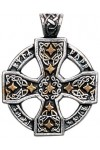 Runic Celtic Cross Pewter Pendant