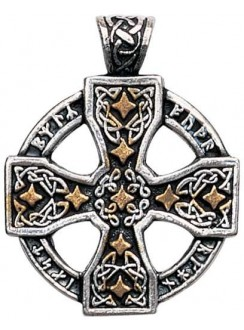 Runic Celtic Cross Pewter Pendant Gothic Plus Gothic Clothing, Jewelry, Goth Shoes & Boots & Home Decor