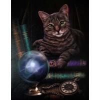 Fortune Teller Cat Canvas Print by Lisa Parker