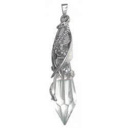 Keeper of the Crystal Sterling Silver Pendant Gothic Plus Gothic Clothing, Jewelry, Goth Shoes & Boots & Home Decor
