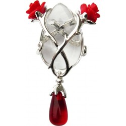 Perfect Love Rose and Thorn Crystal Keeper Necklace Gothic Plus Gothic Clothing, Jewelry, Goth Shoes & Boots & Home Decor