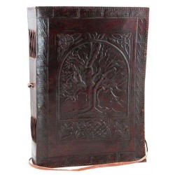 Tree of Life Leather 10 Inch Journal with Cord Gothic Plus Gothic Clothing, Jewelry, Goth Shoes & Boots & Home Decor