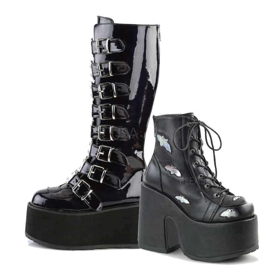 Demonia Gothic Boots Goth Shoes Platform Boots For Men And Women